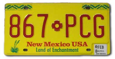 NewMexicoLicensePlate
