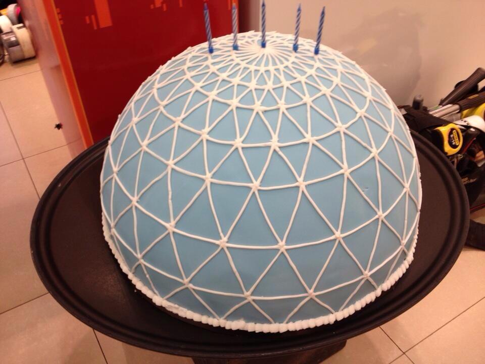 victoria square dome cake